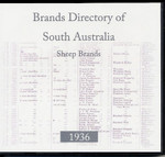 Brands Directory of South Australia 1936: Sheep Brands