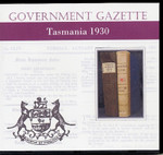 Tasmanian Government Gazette 1930