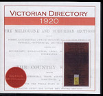 Victorian Directory 1920 (Sands and McDougall)