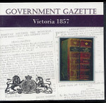 Victorian Government Gazette 1857