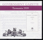 Tasmanian Government Gazette 1939