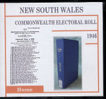 New South Wales Commonwealth Electoral 1946 Hume 1