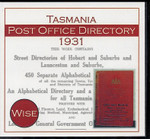 Tasmania Post Office Directory 1931 (Wise)