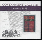 Victorian Government Gazette 1858
