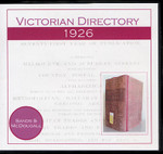 Victorian Directory 1926 (Sands and McDougall)
