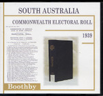 South Australia Commonwealth Electoral Roll 1939 Boothby 1