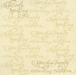 Creative Imaginations 12x12 More Than Family Gold Foil