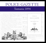 Tasmania Police Gazette 1894