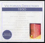 Victorian Directory 1930 (Sands and McDougall)