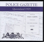 Queensland Police Gazette 1929