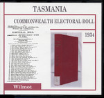 Tasmania Commonwealth Electoral Roll 1934 Wilmot 1