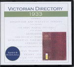 Victorian Directory 1933 (Sands and McDougall)