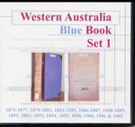 Western Australia Blue Book Set 1 1871-1905