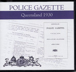 Queensland Police Gazette 1930