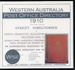 Western Australia Post Office Directory 1910 (Wise)
