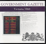 Victorian Government Gazette 1860