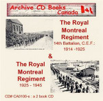 The Royal Montreal Regiment 1914-1925 and 1925-1945 Set
