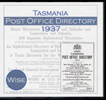 Tasmania Post Office Directory 1937 (Wise)