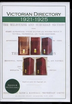 Victorian Directory Compendium 1921-1925 (Sands and McDougall)