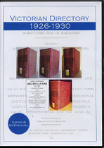 Victorian Directory Compendium 1926-1930 (Sands and McDougall)