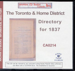 Toronto and the Home District Directory for 1837