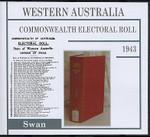 Western Australia Commonwealth Electoral Roll 1943 Swan 1