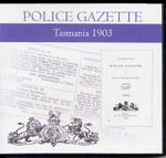 Tasmania Police Gazette 1903