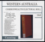 Western Australia Commonwealth Electoral Roll 1949 Canning 1
