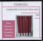 Tasmania Commonwealth Electoral Roll 1939