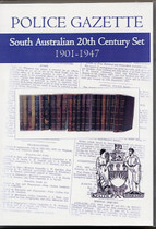 South Australian Police Gazette 20th Century Set 1901-1947