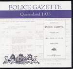 Queensland Police Gazette 1933