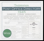 Tasmania Post Office Directory 1945-1946 (Wise)