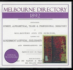 Melbourne Directory 1892 (Sands and McDougall)