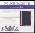 Queensland Police Gazette 1934