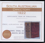South Australian Directory 1922 (Sands and McDougall)