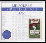 Melbourne Street Directory 1956 (Morgan)