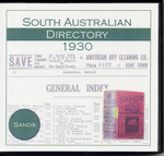 South Australian Directory 1930 (Sands and McDougall)