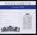Victoria Police Gazette 1878