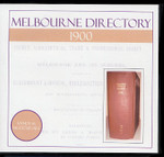 Melbourne Directory 1900 (Sands and McDougall)