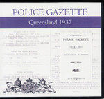 Queensland Police Gazette 1937
