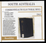 South Australia Commonwealth Electoral Roll 1943 Boothby