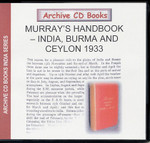 Murray's Handbook: India, Burma and Ceylon 1933