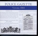 Victoria Police Gazette 1884