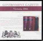 Victorian Government Gazette 1866