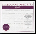 Melbourne Directory 1907 (Sands and McDougall)