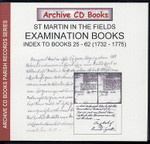 Settlement Examination Books Index 25-62 (1732-1775)