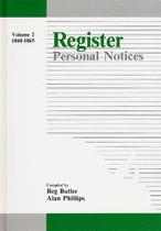 Register Personal Notices Volume 2: 1860-1865