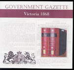 Victorian Government Gazette 1868