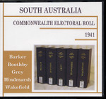 South Australia Commonwealth Electoral Roll 1941 Compendium