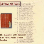 London Parish Registers: St Benedict and St Peter, Paul's Wharf, London 1607-1837